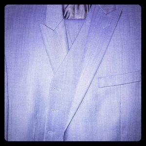 Men's blue Michael Kors 3 piece suit 44 L